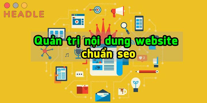Dịch vụ quản trị nội dung website chuẩn SEO