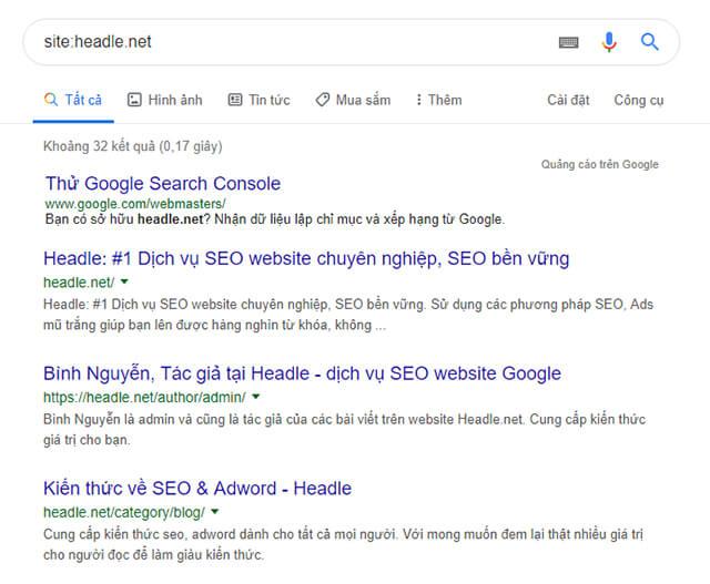 cách kiểm tra google index hay chưa