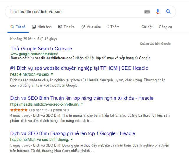 cách kiểm tra google index bài viết chưa
