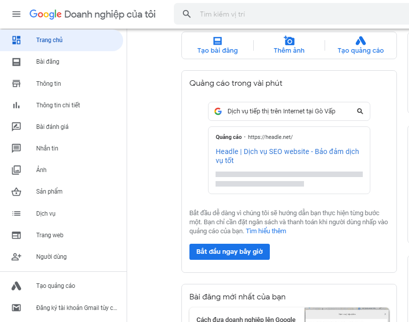 Cách sử dụng google business