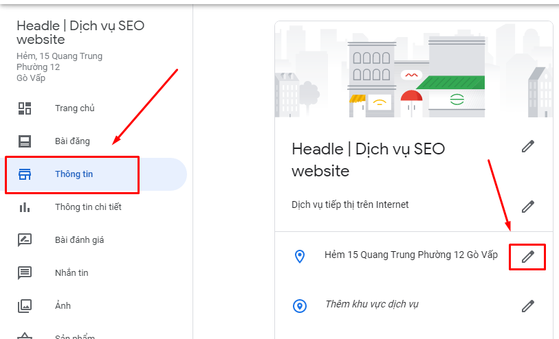 cách thay đổi địa chỉ trên google map