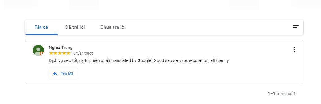 Đánh giá Google Business