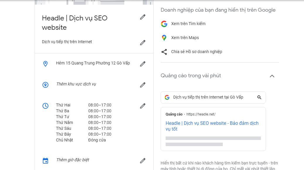 hướng dẫn sử dụng Google business