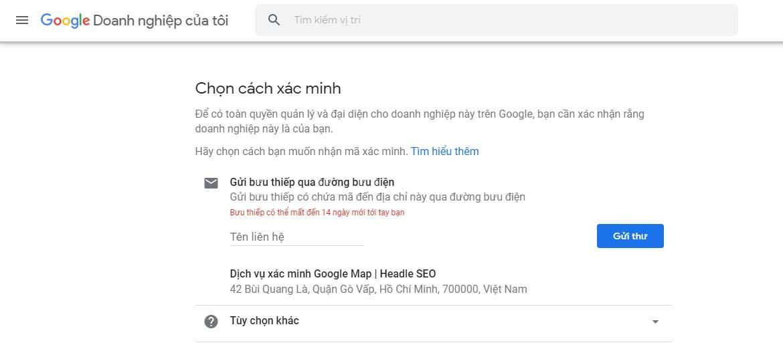 cách đưa doanh nghiệp lên google map