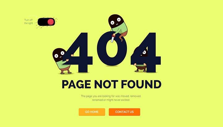trang 404 thân thiện người dùng